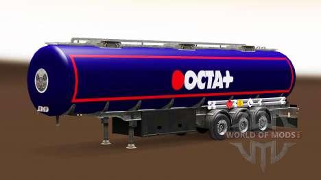 La peau de l'Octa de carburant semi-remorque pour Euro Truck Simulator 2