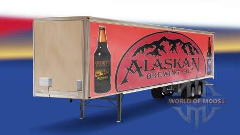 La peau de l'Alaska Brewing Company sur la remor pour American Truck Simulator