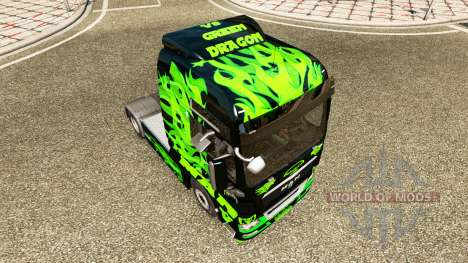 Dragon vert de la peau pour l'HOMME de camion pour Euro Truck Simulator 2