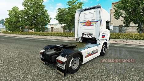 Russland Weiße Haut für LKW Scania für Euro Truck Simulator 2