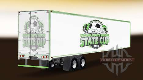 La peau de l'Alaska de Soccer pour les Jeunes su pour American Truck Simulator