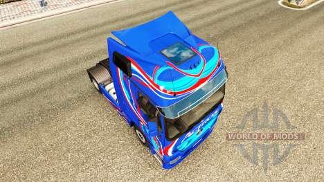Peau Bleu Édition tracteur Mercedes-Benz pour Euro Truck Simulator 2