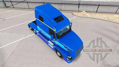 La peau Plycool sur tracteur Volvo VNL 670 pour American Truck Simulator