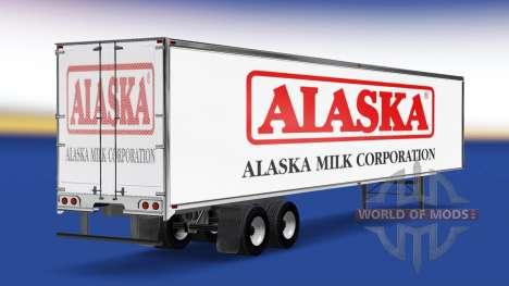 La peau de l'Alaska Lait de Société sur la remor pour American Truck Simulator