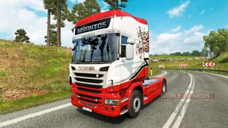 Sarantos transport skin für den Scania truck für Euro Truck Simulator 2
