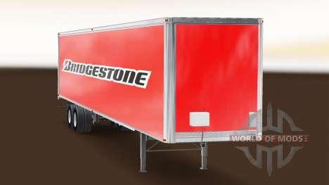 Bridgestone Haut auf dem Anhänger für American Truck Simulator
