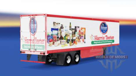 Haut Harris Teeter auf den trailer für American Truck Simulator