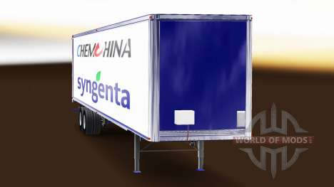 Haut ChemChina & Syngenta auf dem Anhänger für American Truck Simulator
