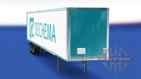 Haut Dechema auf dem Anhänger für American Truck Simulator