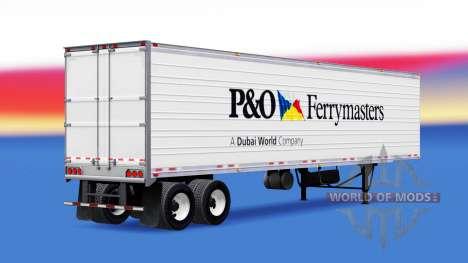 Haut P&O Ferrymasters, die auf dem Anhänger für American Truck Simulator