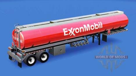 La peau d'ExxonMobil dans le réservoir de carbur pour American Truck Simulator