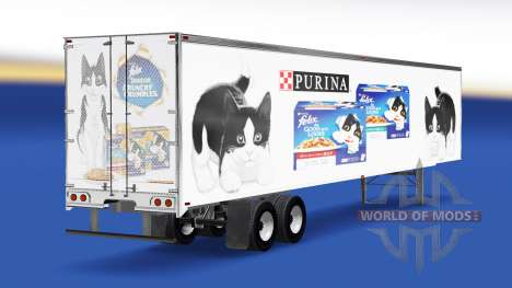 Haut Felix v2.0 auf dem semi-trailer für American Truck Simulator