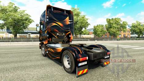 Orange mat de peau pour Scania camion pour Euro Truck Simulator 2
