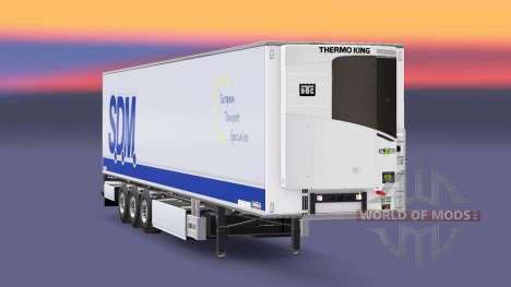 Semi-remorque frigo Chereau S. D. M. pour Euro Truck Simulator 2