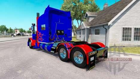 La peau Optimus Prime v2.0 tracteur Peterbilt 38 pour American Truck Simulator