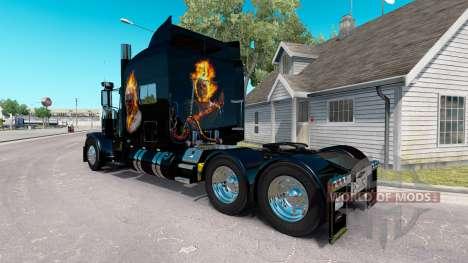 La peau Ghost Rider v2.0 tracteur Peterbilt 389 pour American Truck Simulator