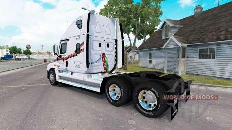Haut auf METROPOLITAN-LKW Freightliner Cascadia für American Truck Simulator