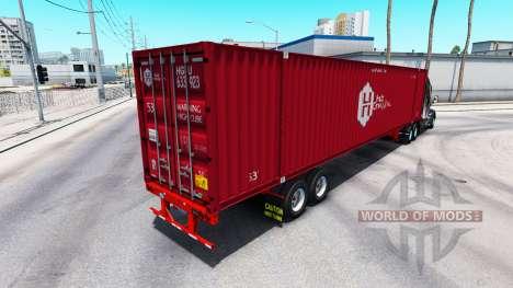 Semi-remorque conteneur Hub Group Inc pour American Truck Simulator