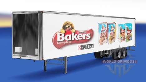 La peau de Boulangers sur la remorque pour American Truck Simulator
