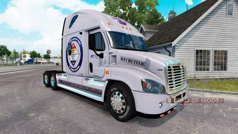 La peau Sécurisé à la Terre pour un tracteur Freightliner Cascadia pour American Truck Simulator