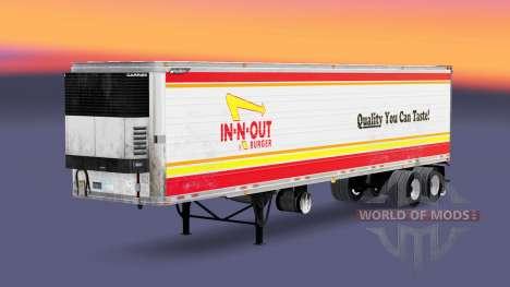 La peau IN-N-OUT pour les semi-frigorifique pour American Truck Simulator