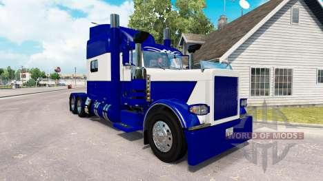 Le Bleu de la peau et le Blanc pour le camion Pe pour American Truck Simulator