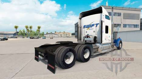 Скин Swift Transport v1.1 на Kenworth W900 für American Truck Simulator