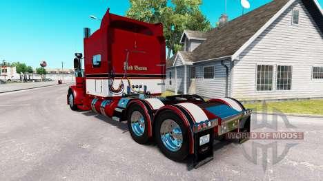 Baron rouge de la peau pour le camion Peterbilt 389 pour American Truck Simulator