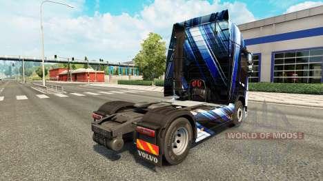 Blaue Streifen Haut für Volvo-LKW für Euro Truck Simulator 2
