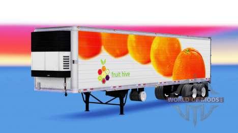 Haut Orangen, die auf dem Anhänger für American Truck Simulator