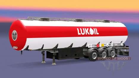 Haut Lukoil Kraftstoff-semi-trailer für Euro Truck Simulator 2