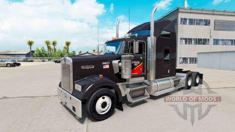 Haut Gallone Öl-truck Kenworth W900 für American Truck Simulator
