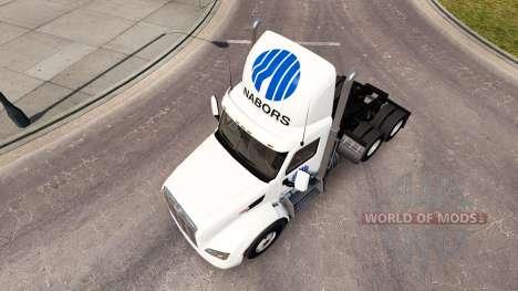 Nabors de la peau pour le camion Peterbilt pour American Truck Simulator