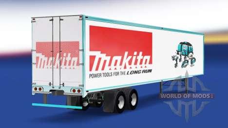 La peau Makita sur la remorque pour American Truck Simulator