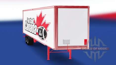 La peau de Football Canada sur la remorque pour American Truck Simulator