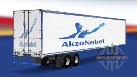 Haut AkzoNobel auf dem Anhänger für American Truck Simulator
