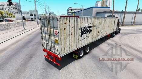Semitrailer container Vitran für American Truck Simulator