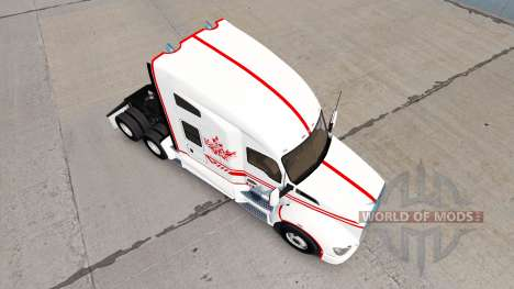 Haut-Canadian-Express-Weißen Kenworth Zugmaschin für American Truck Simulator