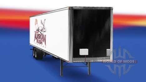 La peau de l'Alaska Bush Société sur la remorque pour American Truck Simulator