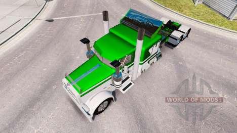 Die Haut Weiß-grün metallic für den truck-Peterb für American Truck Simulator