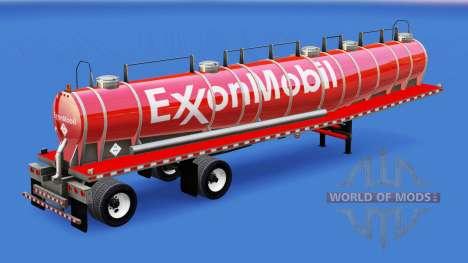 Haut ExxonMobil chemical tank für American Truck Simulator