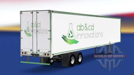 Haut ab&cd innovations, die auf dem Anhänger für American Truck Simulator