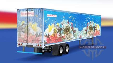 De la peau de Poisson v2.0 sur la semi-remorque pour American Truck Simulator