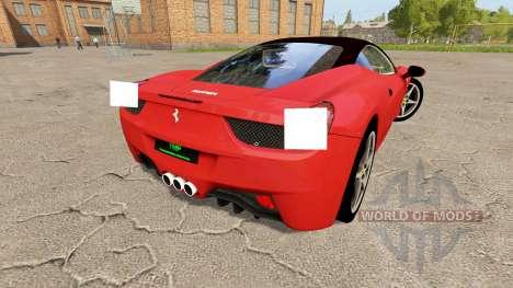 Ferrari 458 Italia v1.1 für Farming Simulator 2017