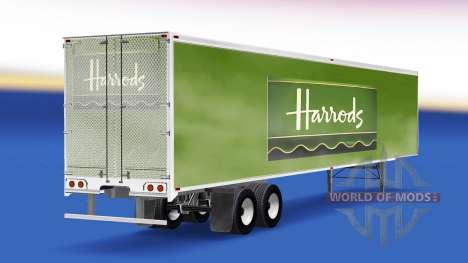La peau Harrods v2.0 sur la semi-remorque pour American Truck Simulator