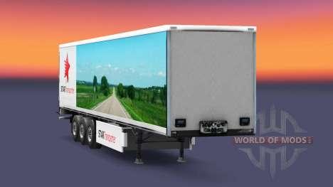 Haut Sterne-Transport auf semi-Trailern für Euro Truck Simulator 2