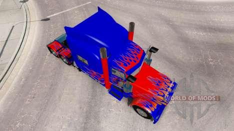 La peau Optimus Prime v2.1 pour le camion Peterb pour American Truck Simulator