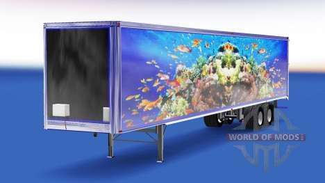 Die Haut der Fische auf dem Anhänger für American Truck Simulator