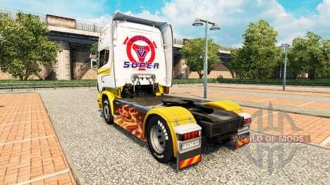 Skin-White gold auf Zugmaschine Scania für Euro Truck Simulator 2