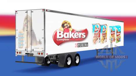 Haut Bäcker auf dem Anhänger für American Truck Simulator